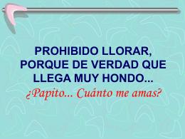 PROHIBIDO LLORAR, PORQUE DE VERDAD QUE LLEGA …