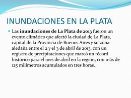 Inundacion en La Plata