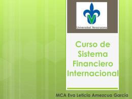 Diapositiva 1 - Curso de Sistema Financiero Internacional