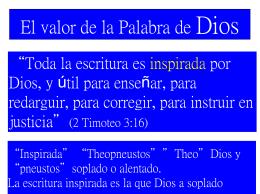 El valor de la Palabra de Dios