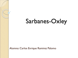 Sarbanes-Oxley - auditoriasistemasucb / FrontPage