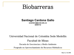 Biobarreras.2 - Universidad Nacional de Colombia