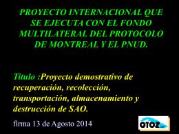 PROTOCOLO DE MONTREAL PARA LA PROTECCION DE …