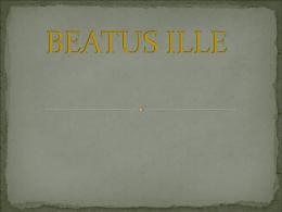 BEATUS ILLE - nuestrawikideclasebach