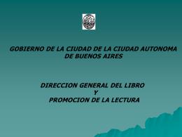 DIRECCION GENERAL DEL LIBRO Y PROMOCION DE LA …