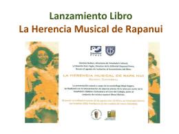 Lanzamiento Libro La Herencia Musical de Rapanui