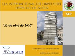 Diapositiva 1 - Instituto Nacional del Derecho de Autor