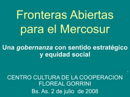 Fronteras Abiertas para el Mercosur