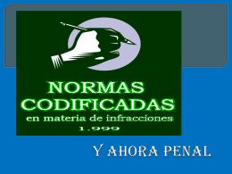 Diapositiva 1 - Normas Codificadas