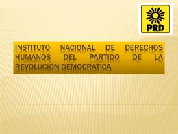 INSTITUTO DE DERECHOS HUMANOS DEL PARTIDO DE …