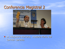 Conferencia Magistral 2 - Instituto de Investigaciones