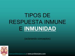 TIPOS DE RESPUESTA INMUNE E INU