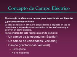Campo electrico electricidad
