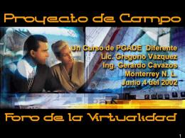 PROYECTO DE CAMPO