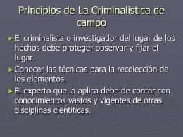 La Criminalistica de campo