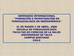 El campo fonoaudiologico en Venezuela