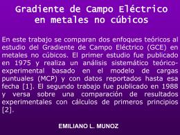 Gradiente de Campo Electrico en metales no cubicos