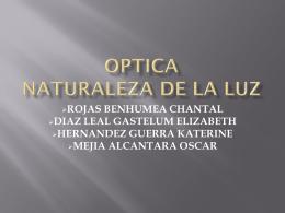 OPTICA NATURALEZA DE LA LUZ - Ambfsc5201