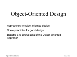 Object-Oriented Design - University of Calgary