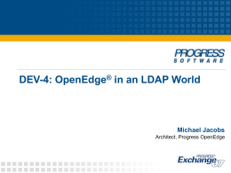OpenEdge in an LDAP World