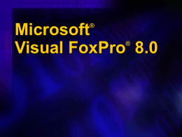 Slideshow Presentation Visual FoxPro 8.0