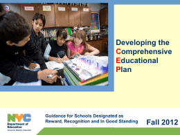 2011-12 Comprehensive Educational Plan