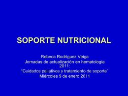 SOPORTE NUTRICIONAL - Servicio de