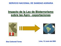 SERVICIO NACIONAL DE SANIDAD AGRARIA