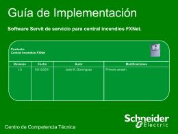 Software Servit de servicio para centrales FXNet.pps