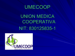 SERVICIO MEDICO UMECOOP