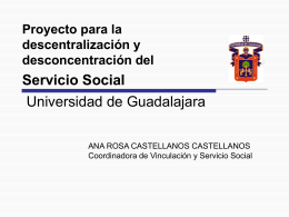 Servicio Social Desconcentrar