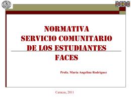 NORMATIVA SERVICIO COMUNITARIO DE LOS …