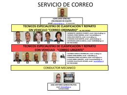 Servicio de Correo - Unidad Central de Servicios