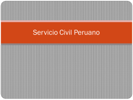 Servicio Civil Peruano