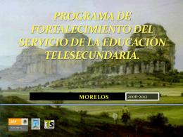 PROGRAMA DE FORTALECIMIENTO DEL SERVICIO DE LA …