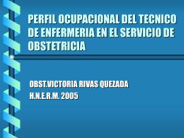 PERFIL OCUPACIONAL DEL TECNICO DE ENFERMERIA EN …