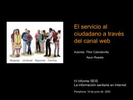 Servicio Ciuddano canal web