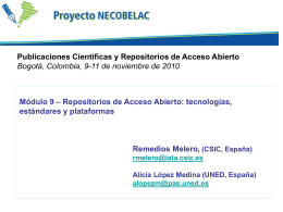 Diapositiva 1 - NECOBELAC Project Home Page