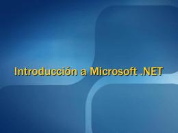 DCE 2005 - Estrella 1 - Introduccion a Microsoft .NET