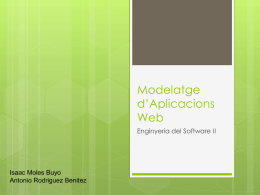 Modelatge d'Aplicacions Web