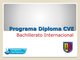 Programa Diploma CVE