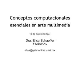 Conceptos computacionales esenciales en arte multimedia