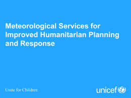 Harmonized Emergency Risk Management in UNICEF