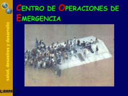 CENTRO DE OPERACIONES DE EMERGENCIA