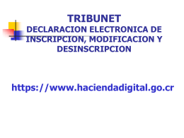 TRIBUNET DECLARACION ELECTRONICA DE INSCRIPCION