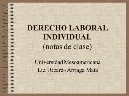 DERECHO LABORAL INDIVIDUAL - Derecho