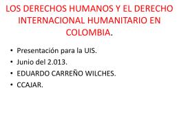LOS DERECHOS HUMANOS Y EL DERECHO …