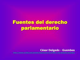 Fuentes del derecho parlamentario