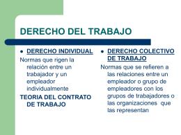 DERECHO DEL TRABAJO - General | Universidad de Congreso