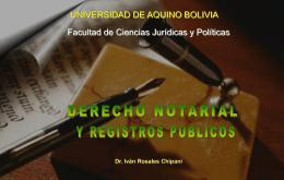 DERECHO NOTARIAL Y REGISTROS PUBLICOS